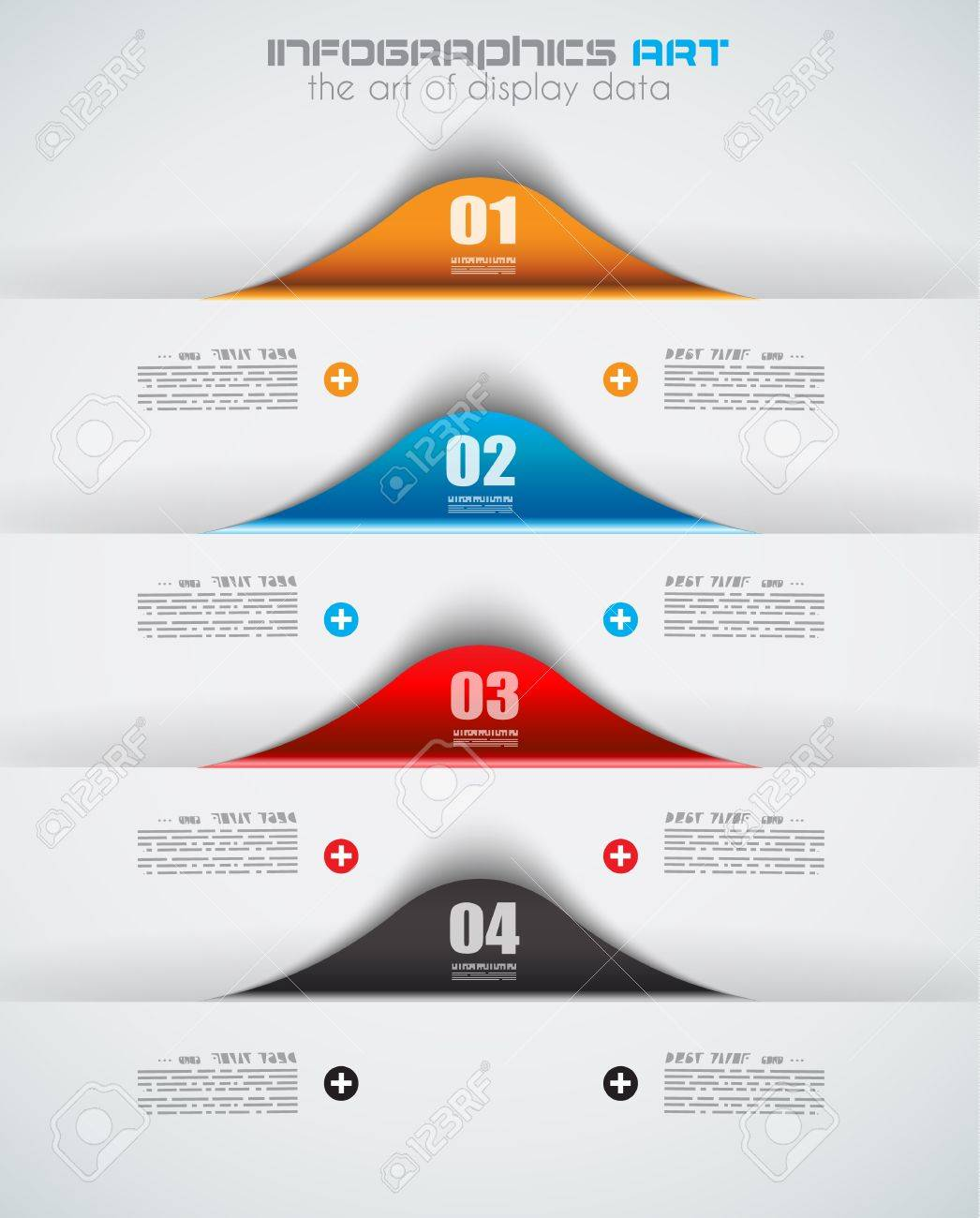 Infographic design template with paper tags. Ideal to display information, ranking and statistics with orginal and modern style. Stock Vector - 20226841