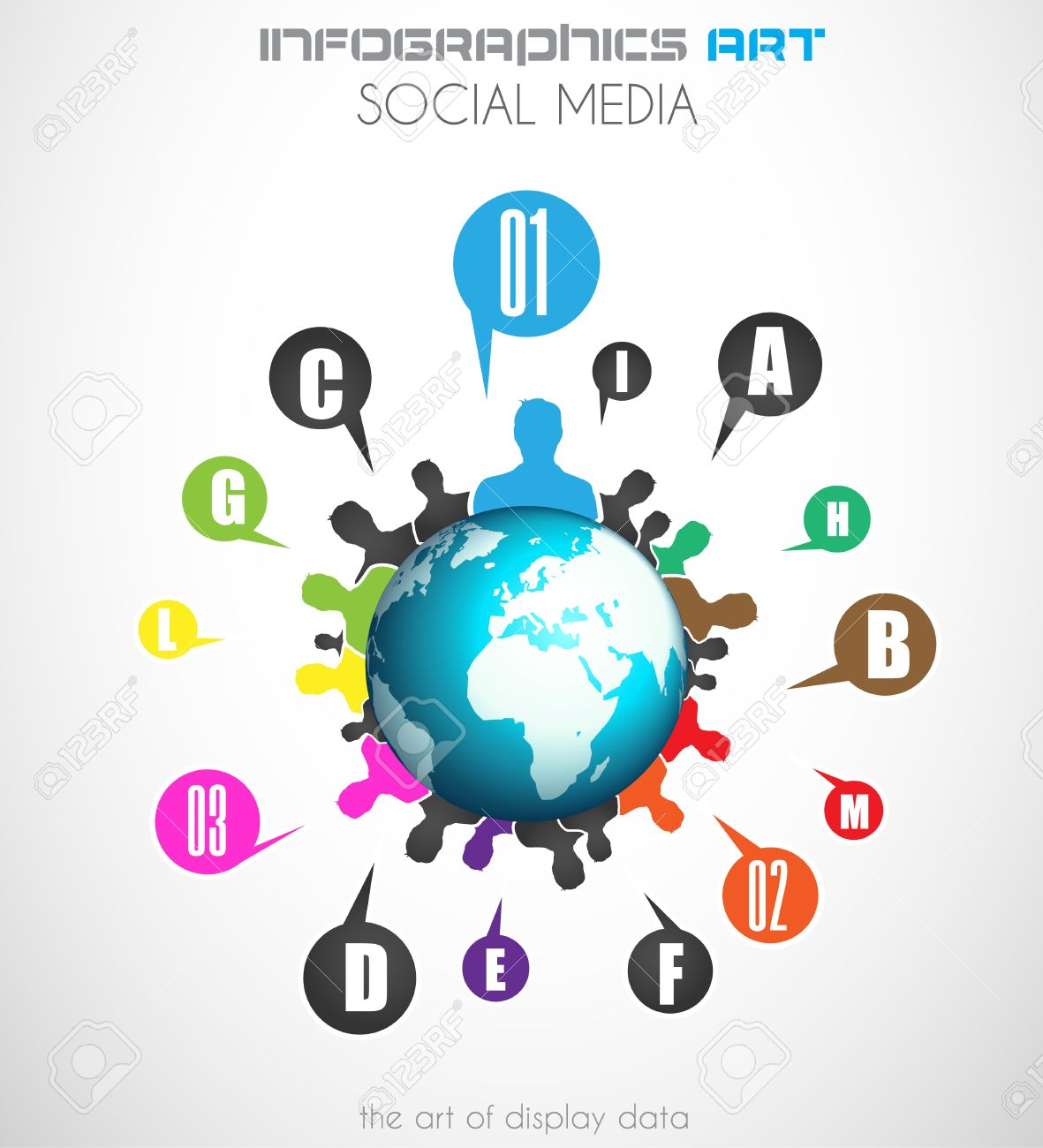 Worldwide communication and social media concept art. People communicating around the globe with a lot of connections. Stock Vector - 21316552