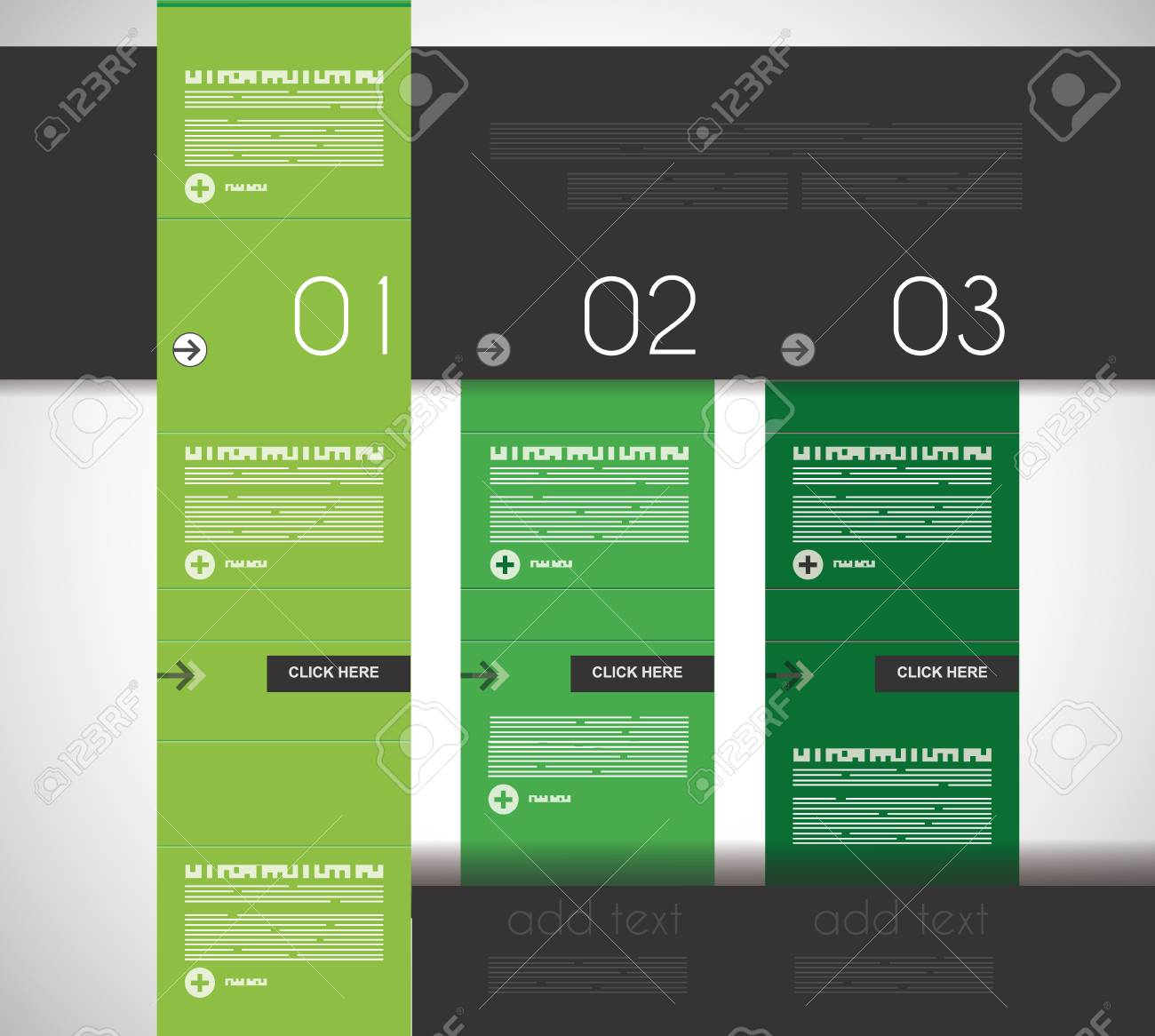 Infographic design template with flat design panels and clear uniform colours. Stock Vector - 22770707