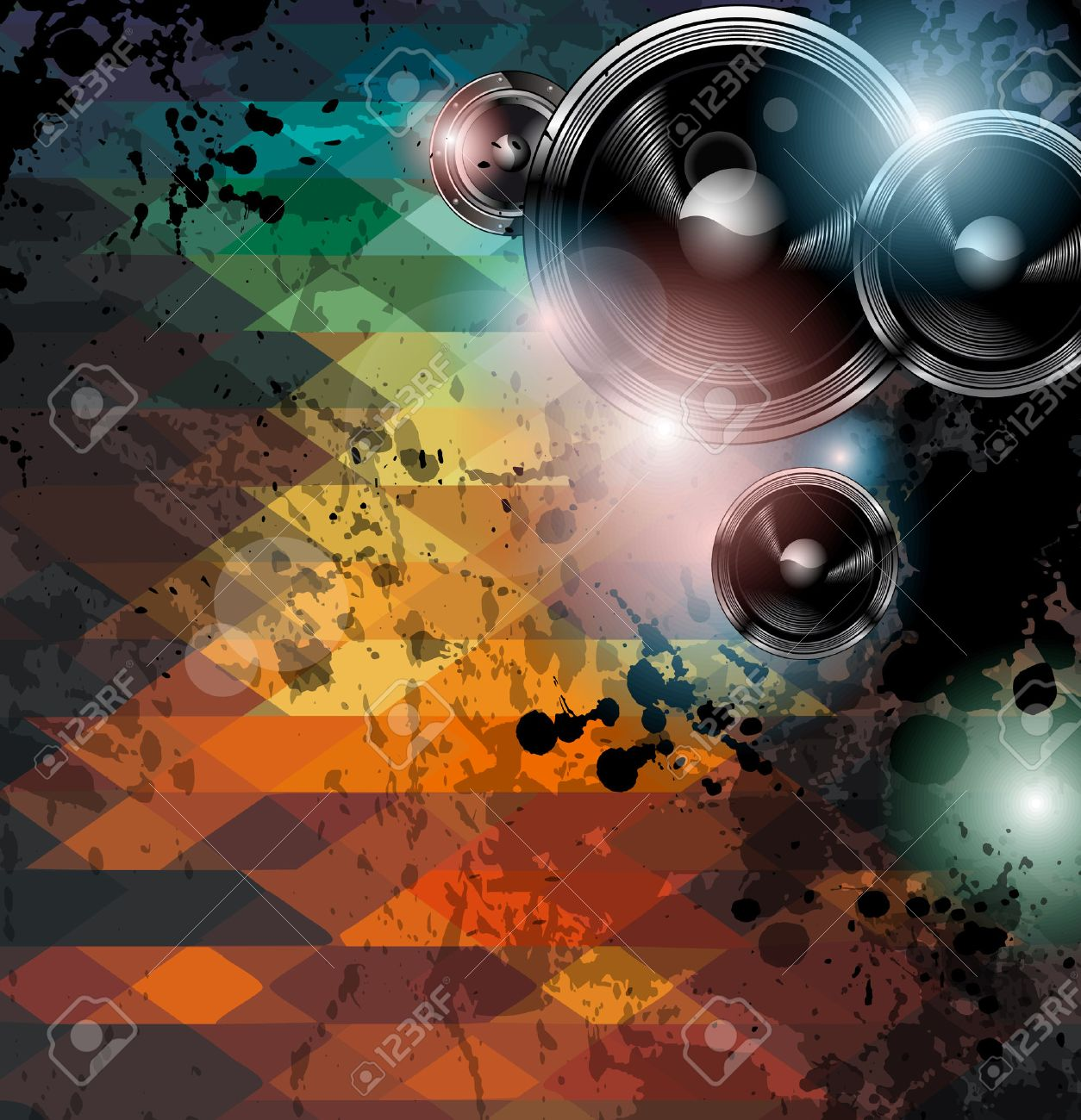 Disco Club Flyer Template Abstract Background To Use For Music