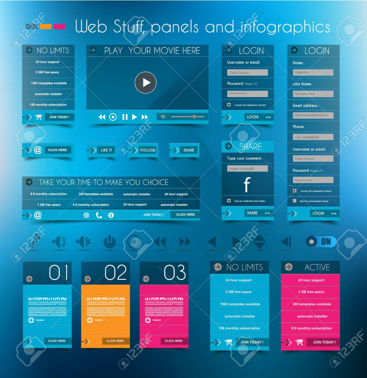 Web Design Stuff: Price Panels, Login Forms, Headers, Footers ...