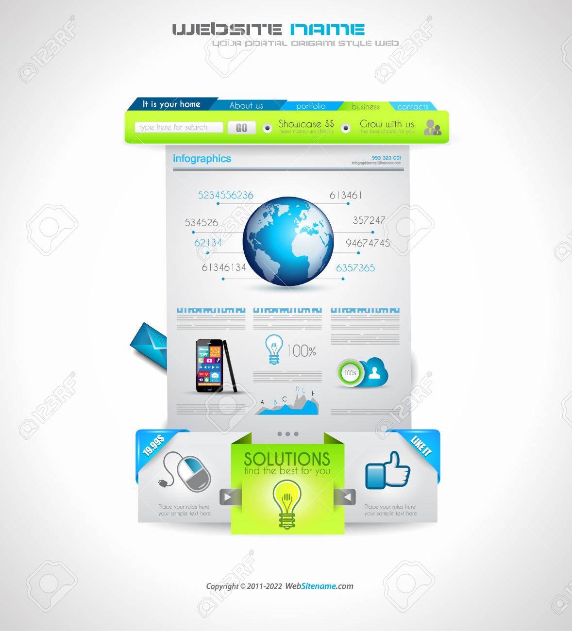 Qualität Sauberen Web-Elemente Für Blogs Und Websites. Icons, Header ...