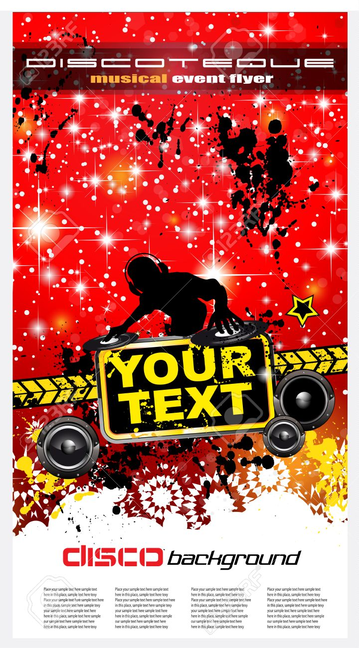 Christmas Party Flyer For Music Event Or Disco Club Posters Royalty Free Cliparts Vectors And Stock Illustration Image 23648438