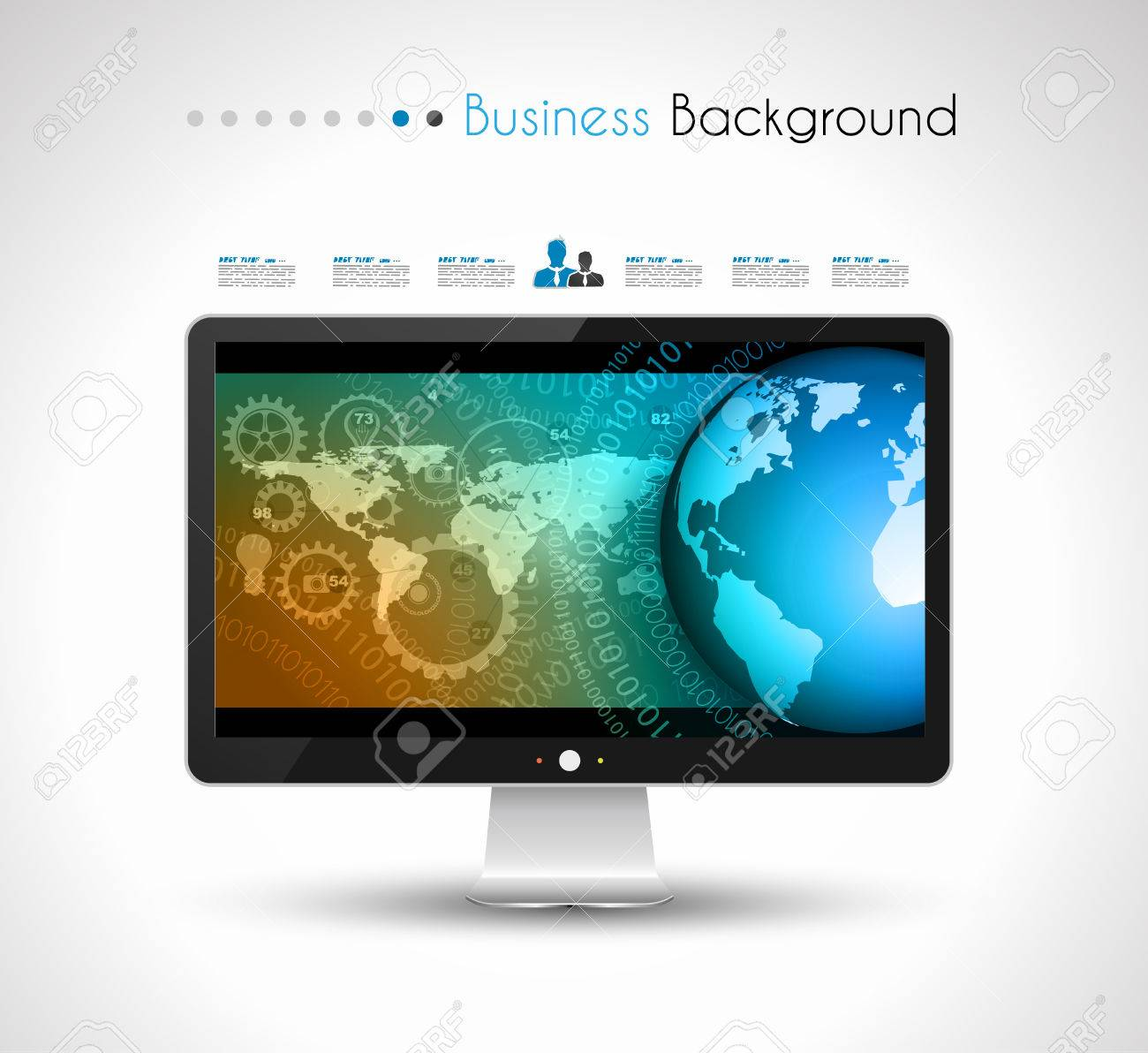 UI Flat Design Elements for Web, Infographics, Data display, Blogs and   Business presentations. Stock Vector - 24419017