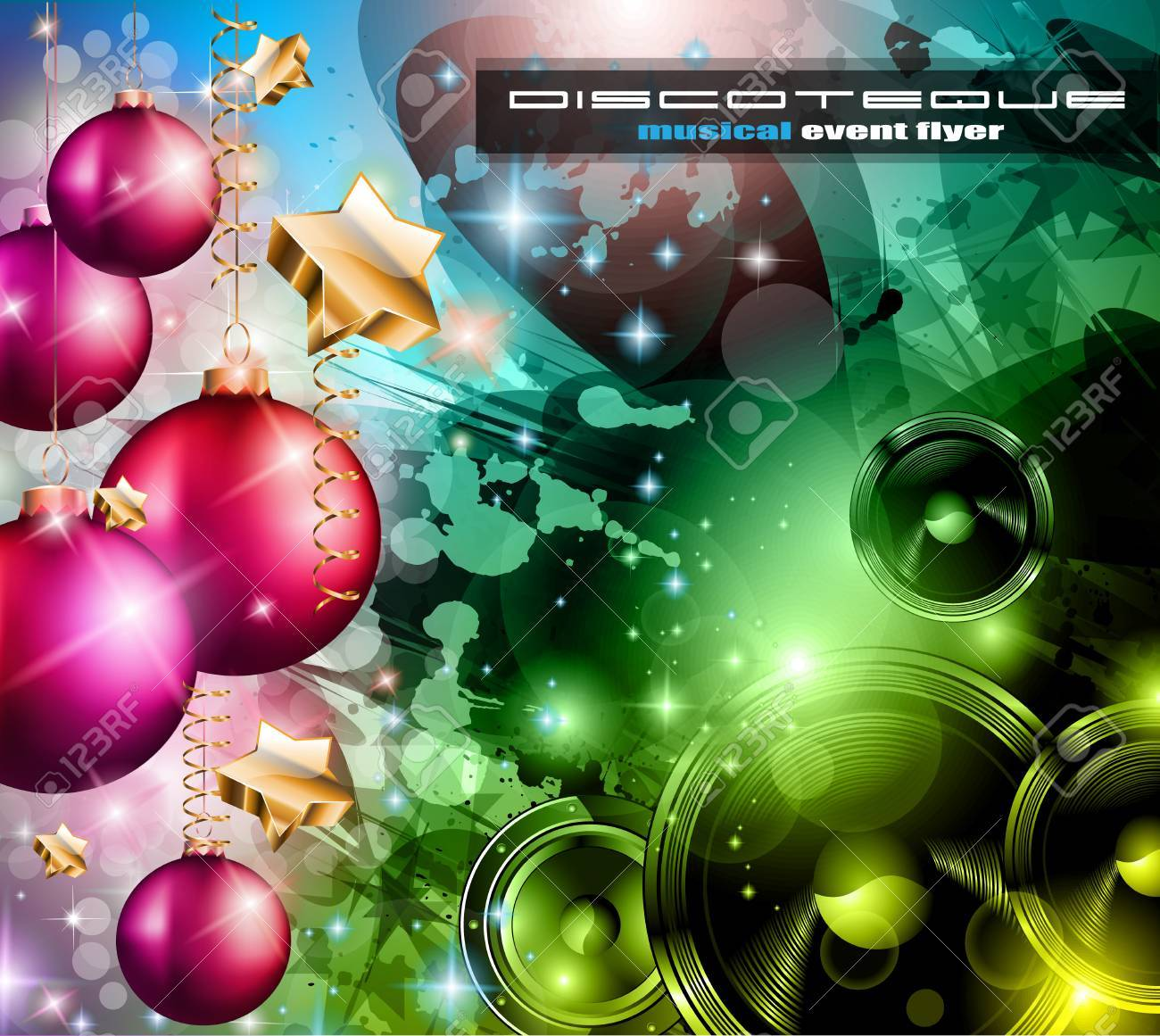 2014 Happy new year Party background for flyers and music events! Stock Vector - 24498134
