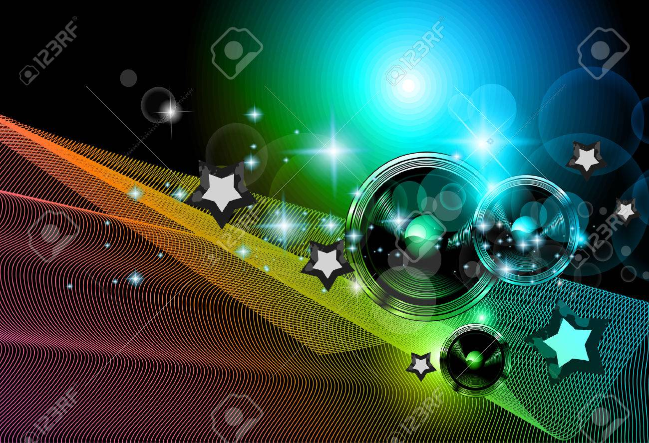 2014 new years party background for club flyers attractive design with rainbow colours stock