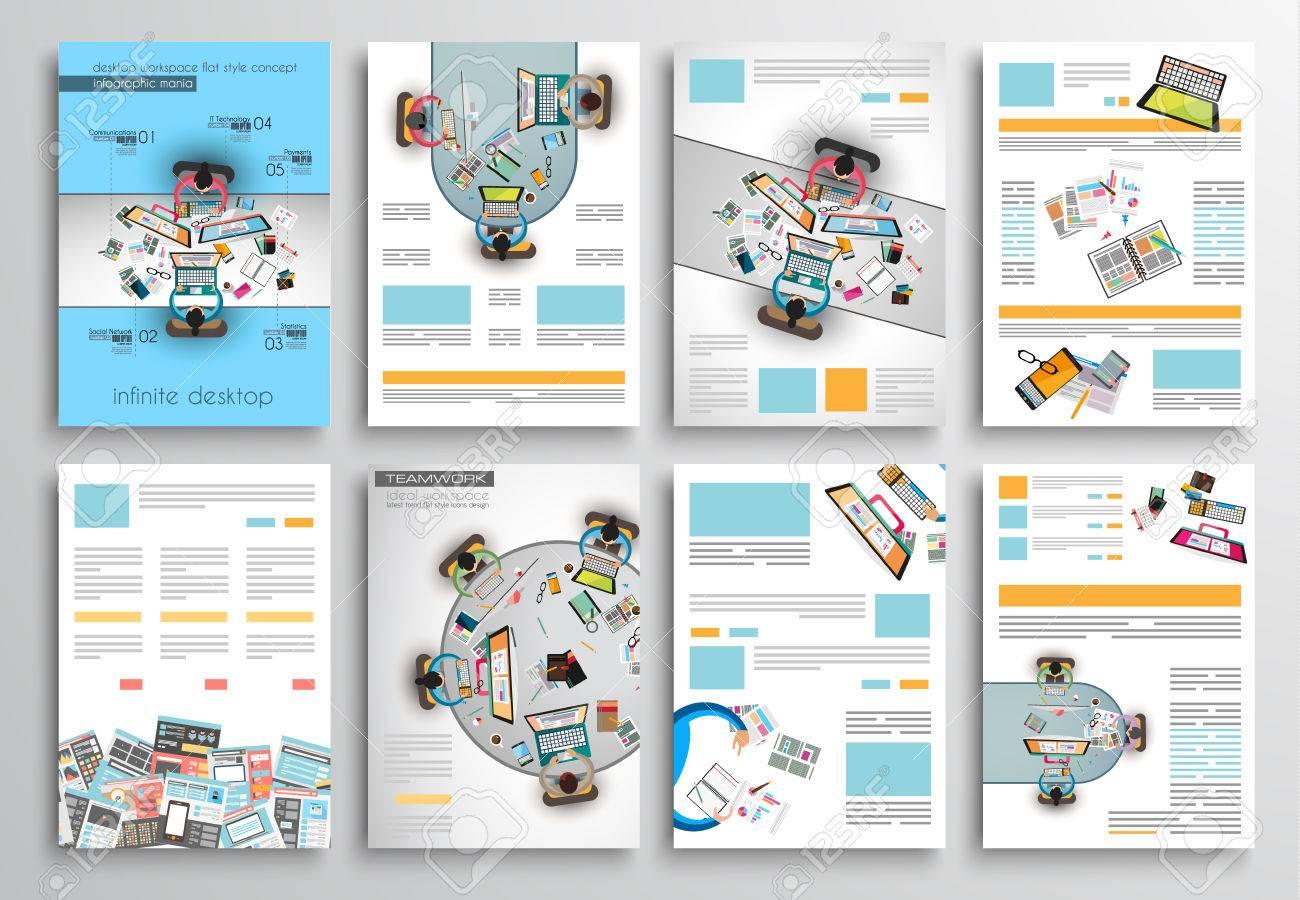 Set Flyer Druck, Web Templates. Broschüre Designs, Technologie ...
