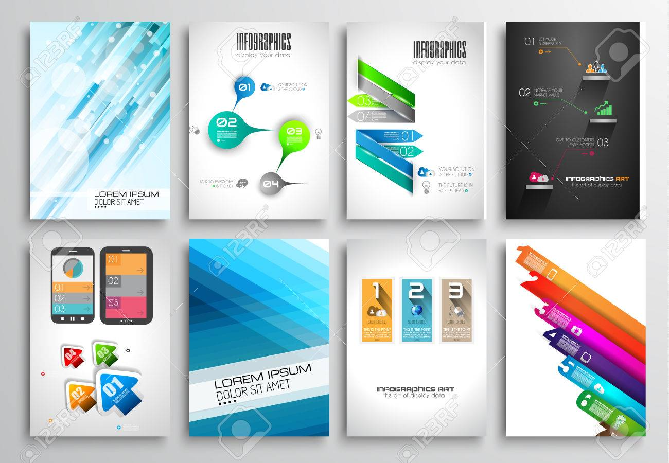 set of flyer design web templates brochure designs technology set of flyer design web templates brochure designs technology backgrounds mobile technologies