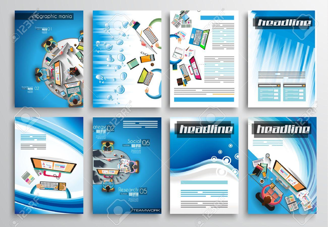 Set Of Flyer Design Web Templates Brochure Designs Technology – Web Flyer