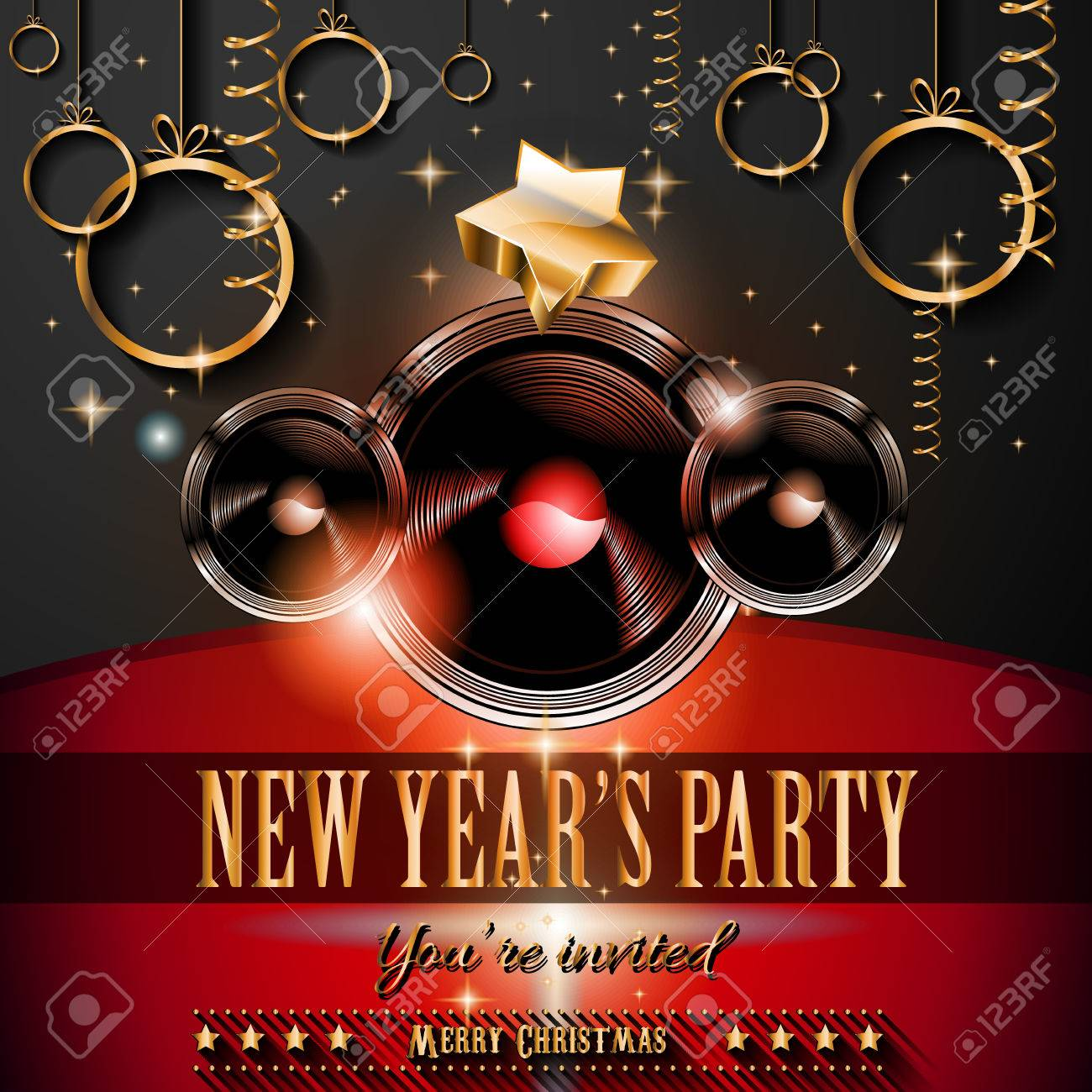 new year s party flyer design for nigh clubs event 2015 new year s party flyer design for nigh clubs event festive christmas themed elements and