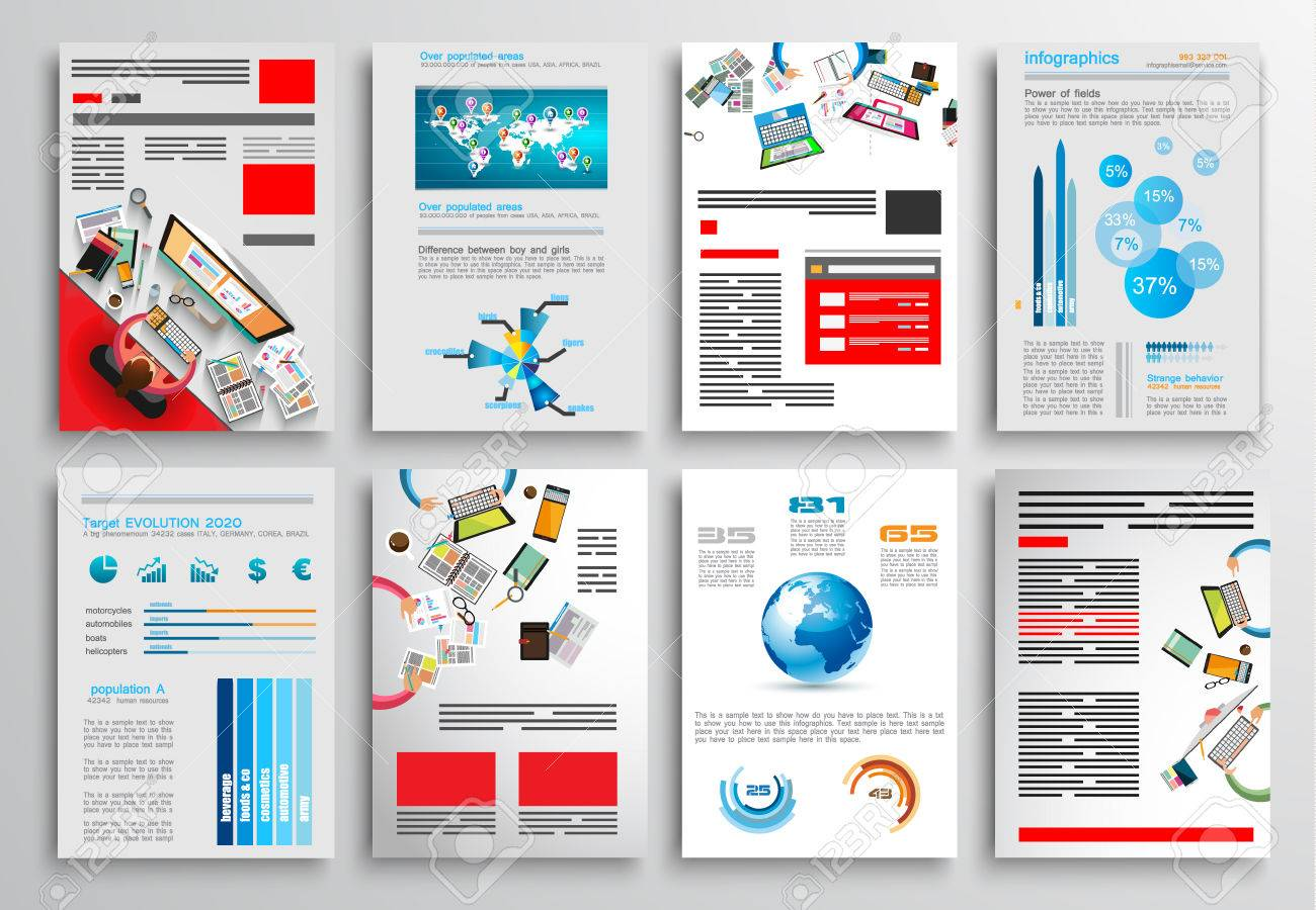 Set Of Flyer Design Web Templates Brochure Designs Technology - Brochure website templates