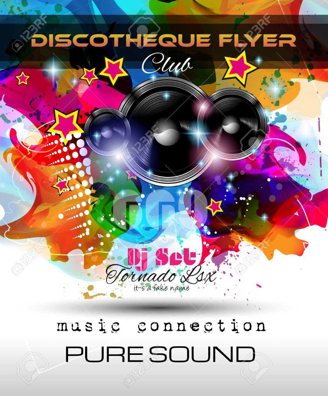 night clubs flyer
