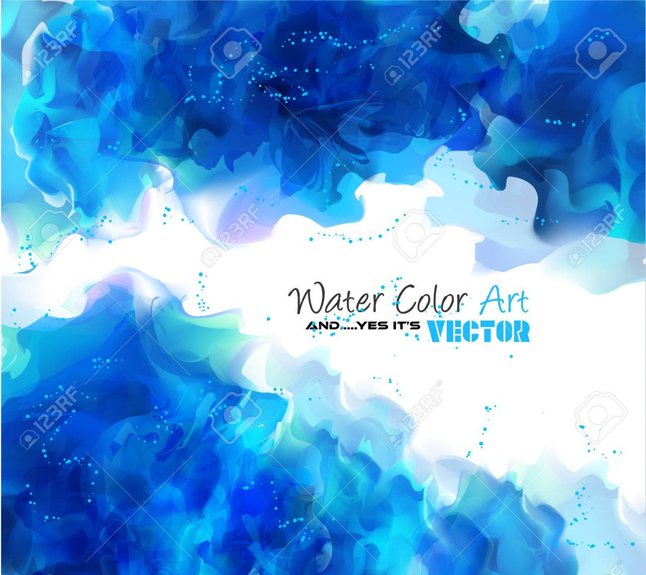 Fabuloso Watercolor Background And Yes It's Vector! To Use For Poster  FK01