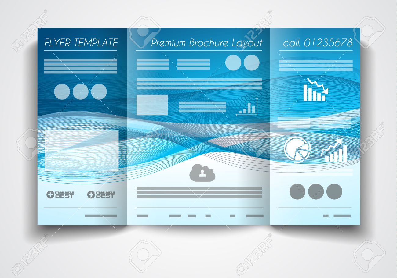 vector tri fold brochure template design or flyer layout to use