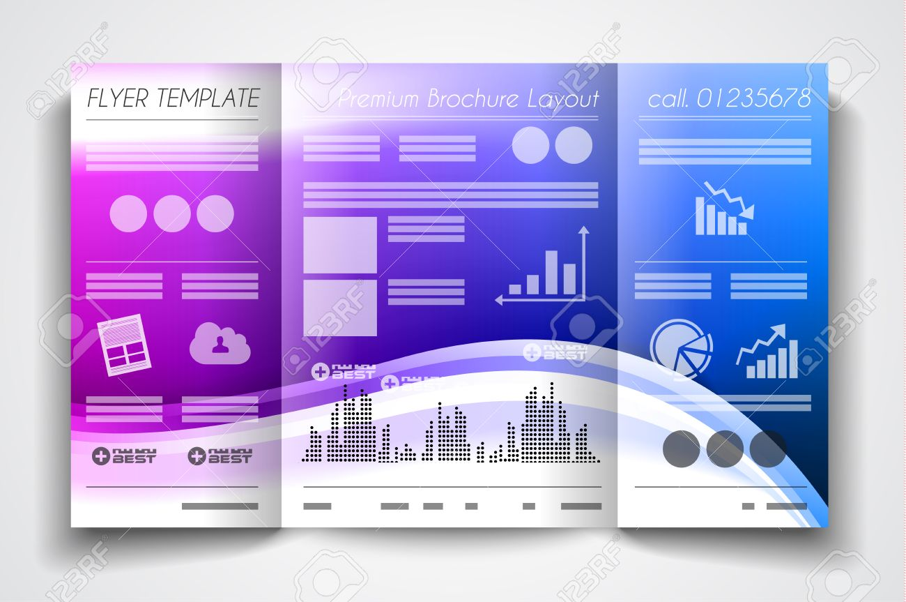 vector tri fold brochure template design or flyer layout to use vector vector tri fold brochure template design or flyer layout to use for business applications magazines advertising product sheets item notes