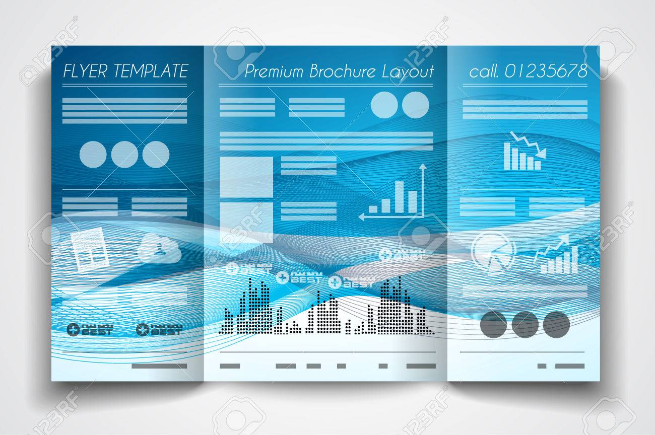 Vector Tri Fold Brochure Template Design Or Flyer Layout To Use – Free Printable Tri Fold Brochure Templates