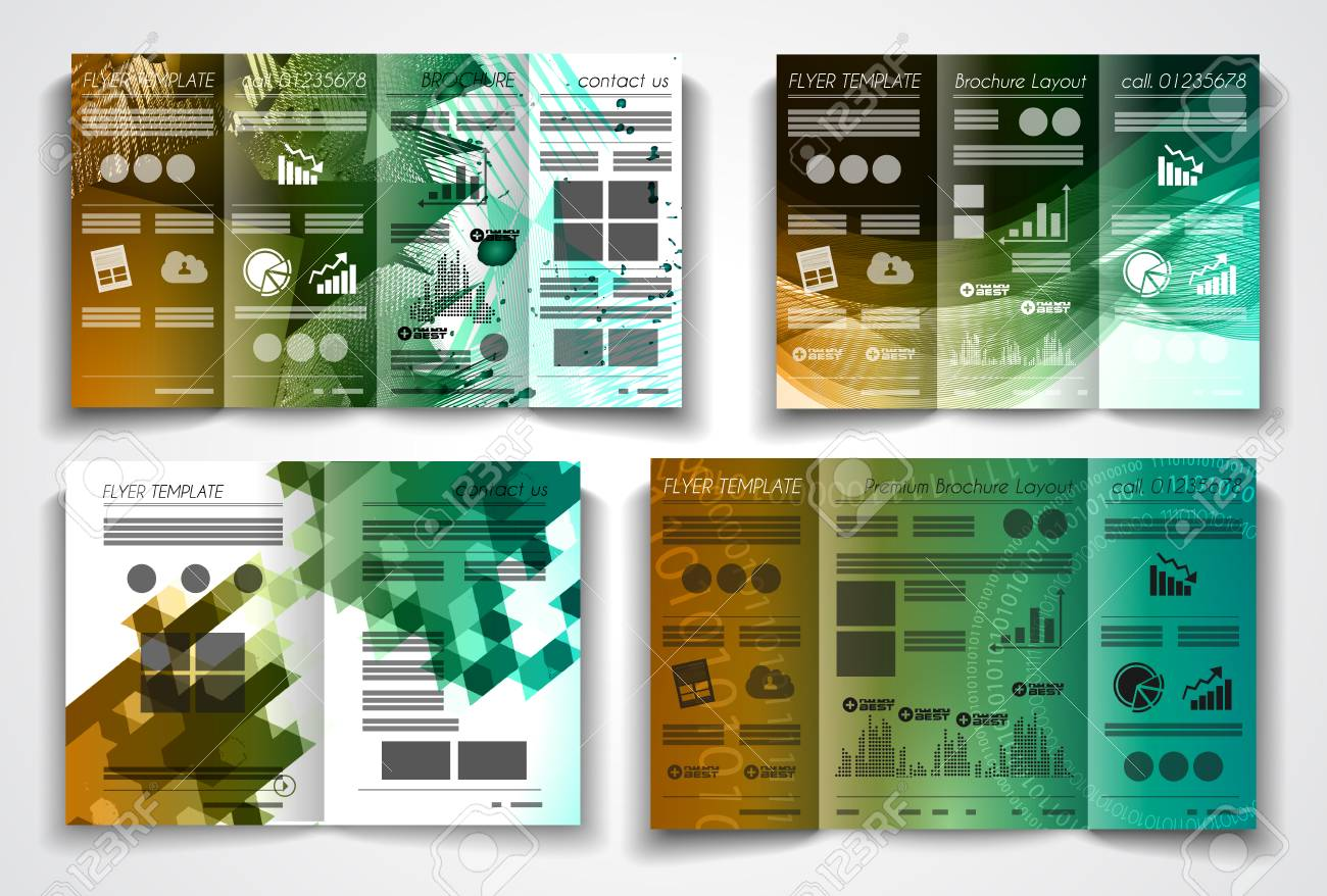Vector Tri Fold Brochure Template Design Or Flyer Layout To Use For  Business Applications, Magazines  Advertising Brochure Template