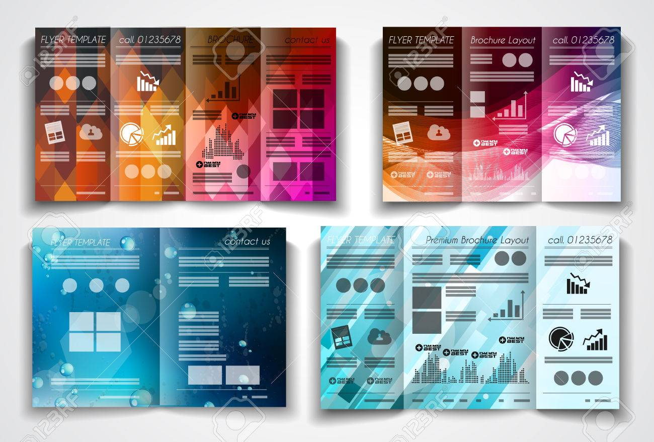 vector vector tri fold brochure template design or flyer layout to use for business applications magazines advertising product sheets item notes