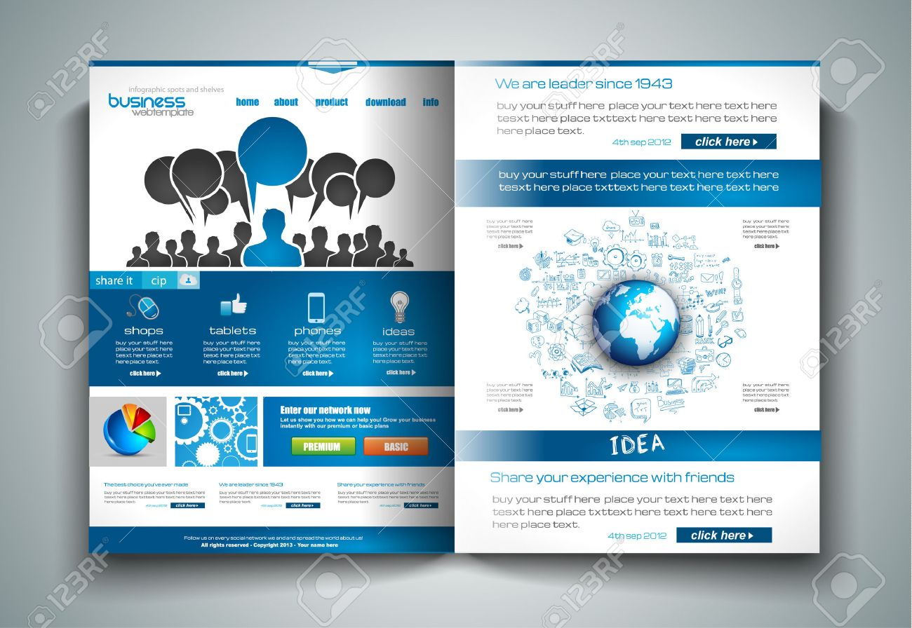 Vector Bifold Brochure Template Design Or Flyer Layout To Use - Brochure template ideas