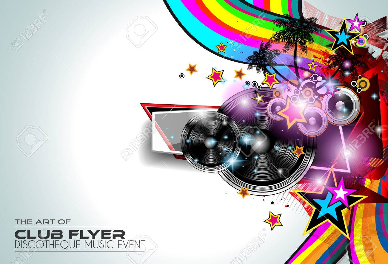 modern club disco flyer art for music event backgrounds posters