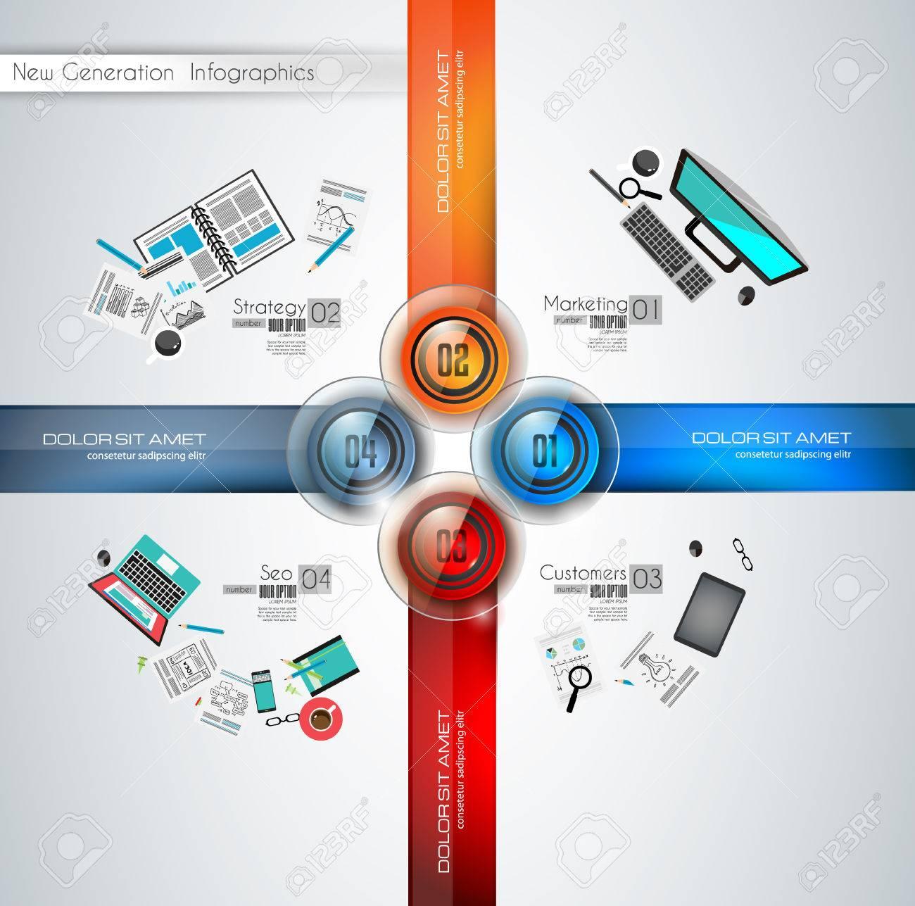 Infografía Plantilla Moderna Para Clasificar Los Datos Y La ...