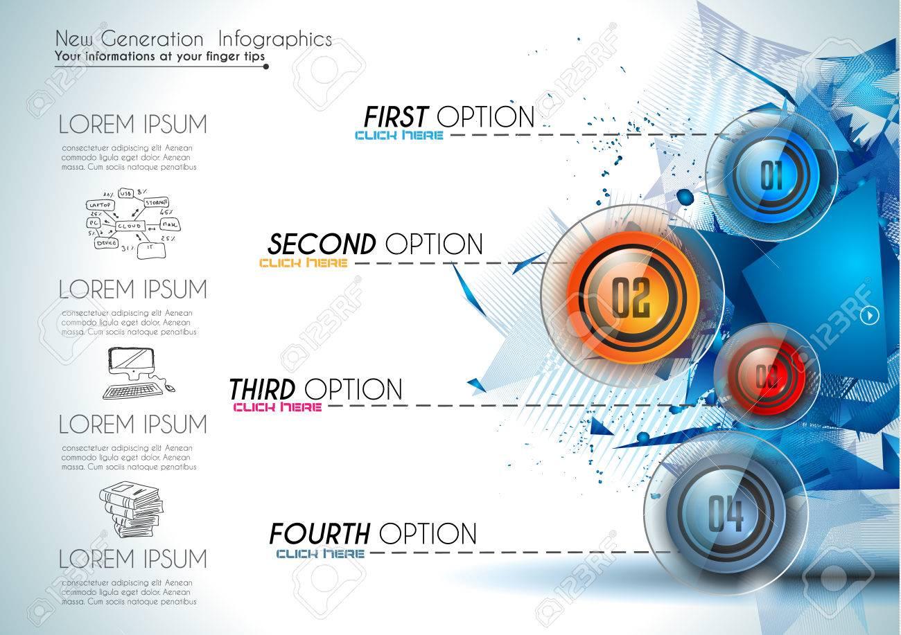 Infografik Zusammenfassung Vorlage Mit 4 Wahlmöglichkeiten ...