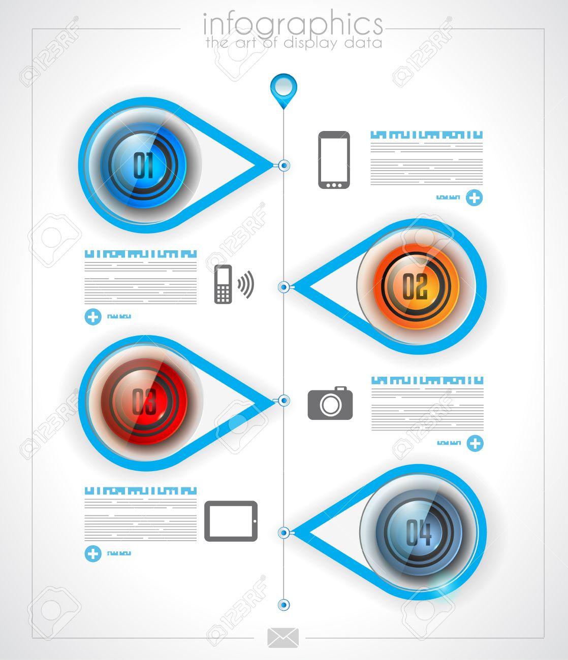 Infografik Timeline Layout-Vorlage Für Artikel Oder Ideen ...