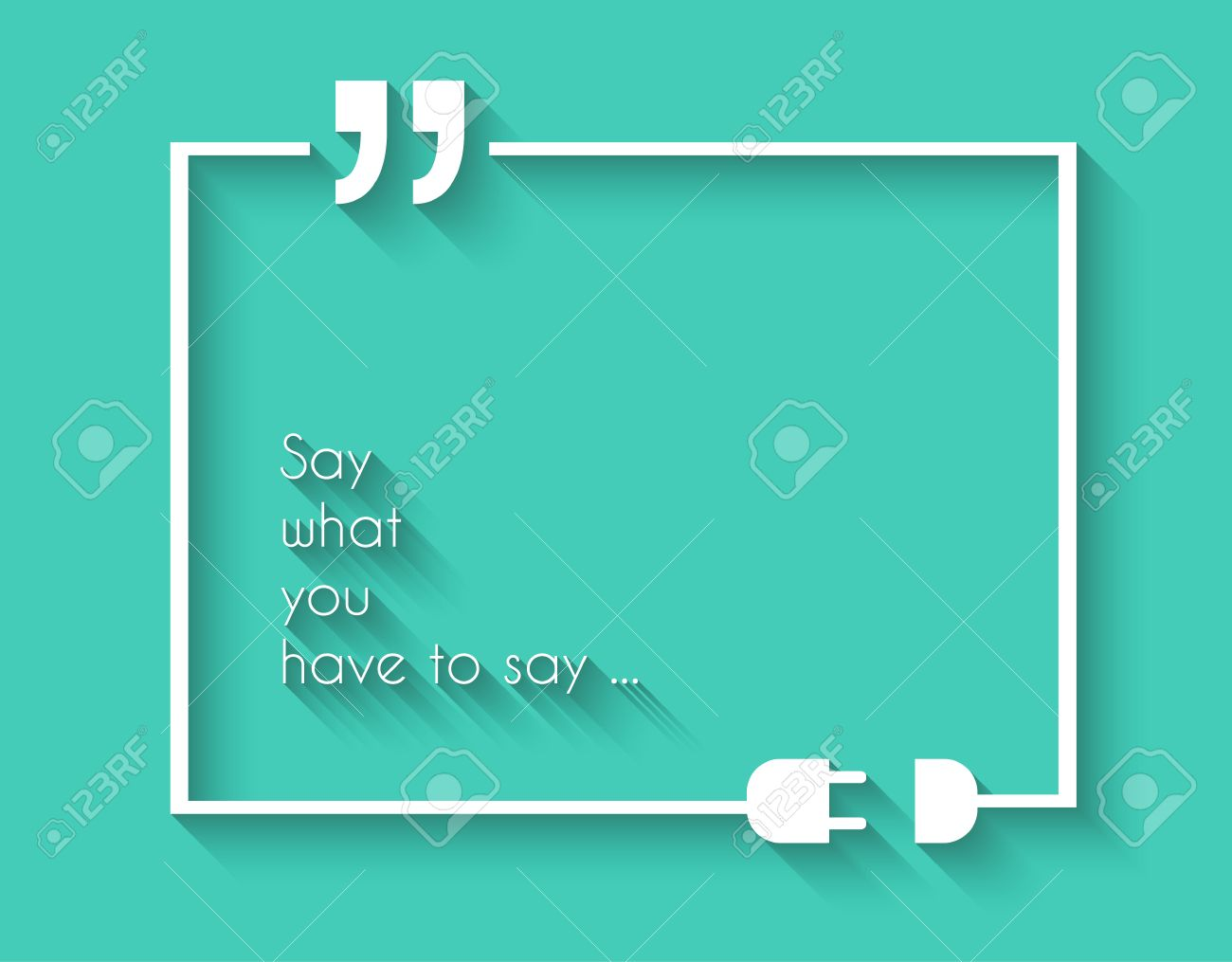 Quotation Mark Frame With Flat Style And Space For Text. Modern ...
