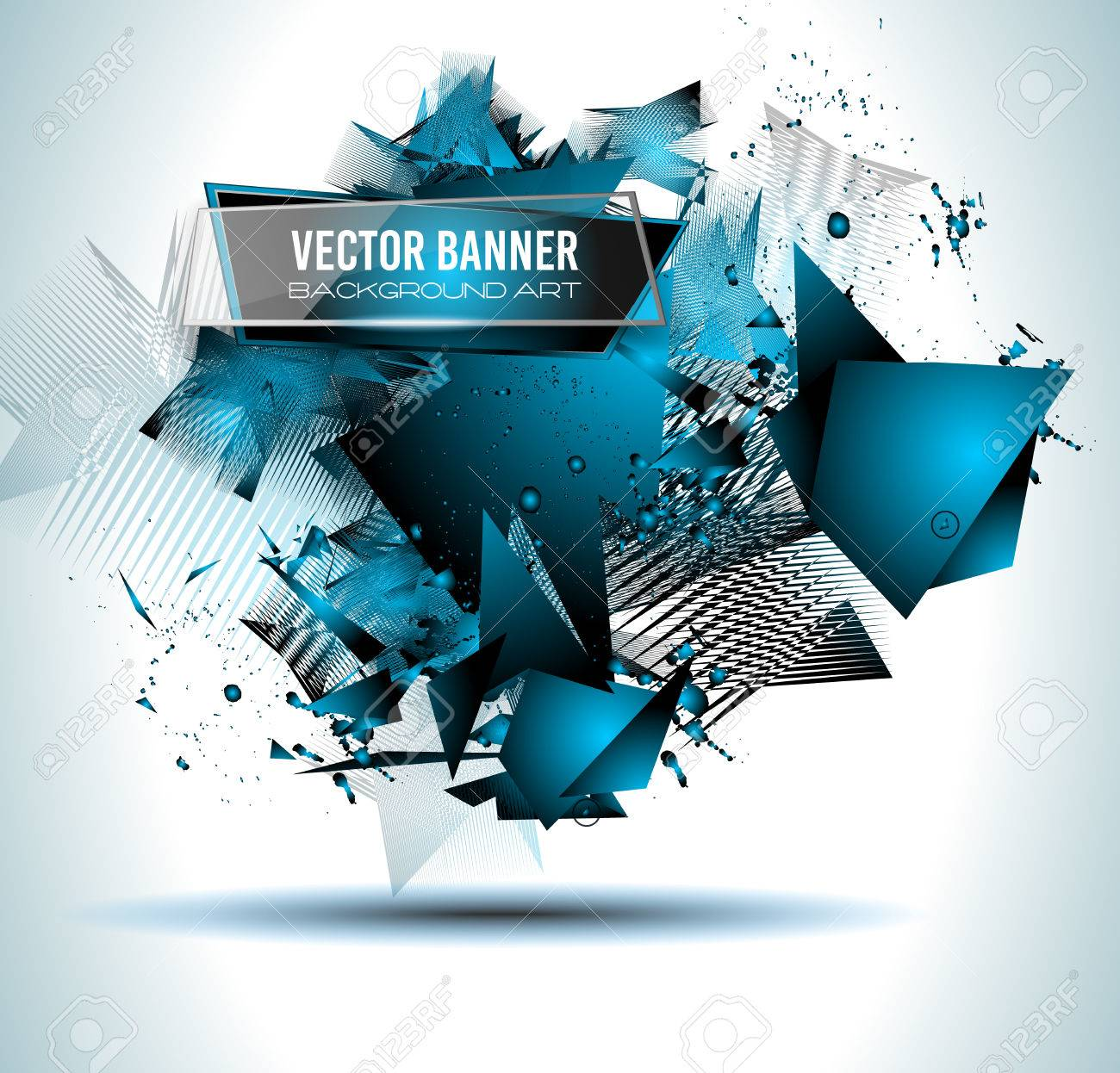 Abstract Background With Shapes Explosion For Cover Flyers Template