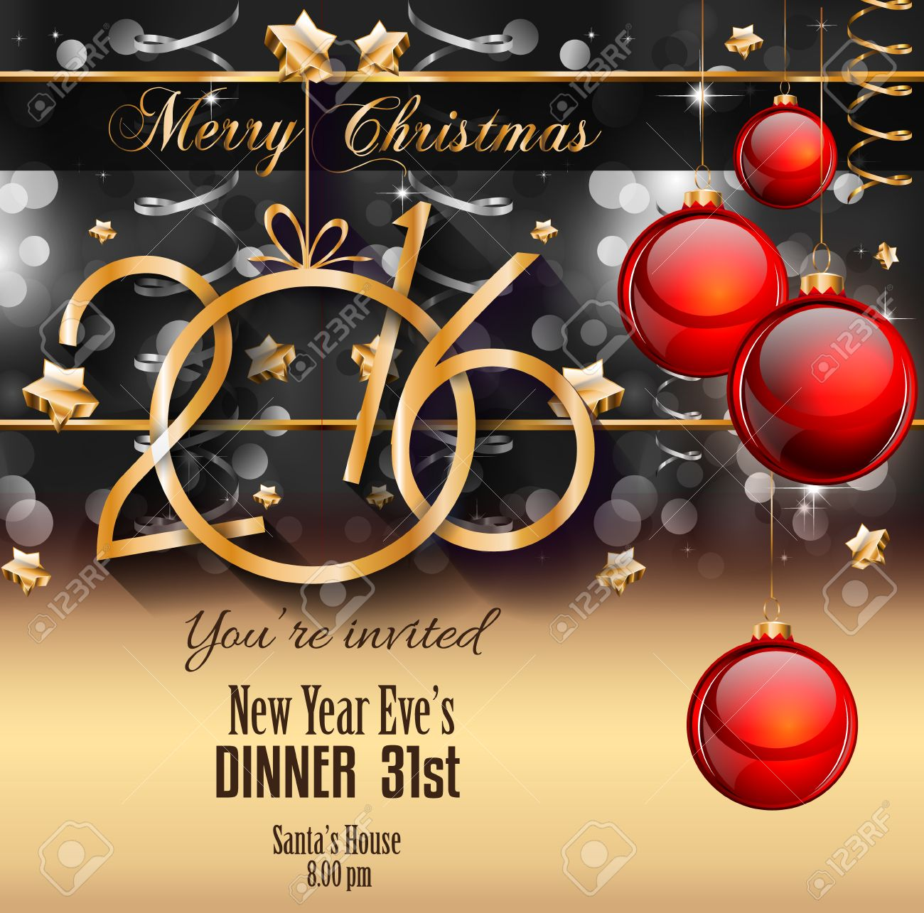Christmas Flyers.2016 Happy New Year Background For Your Christmas Flyers Dinner