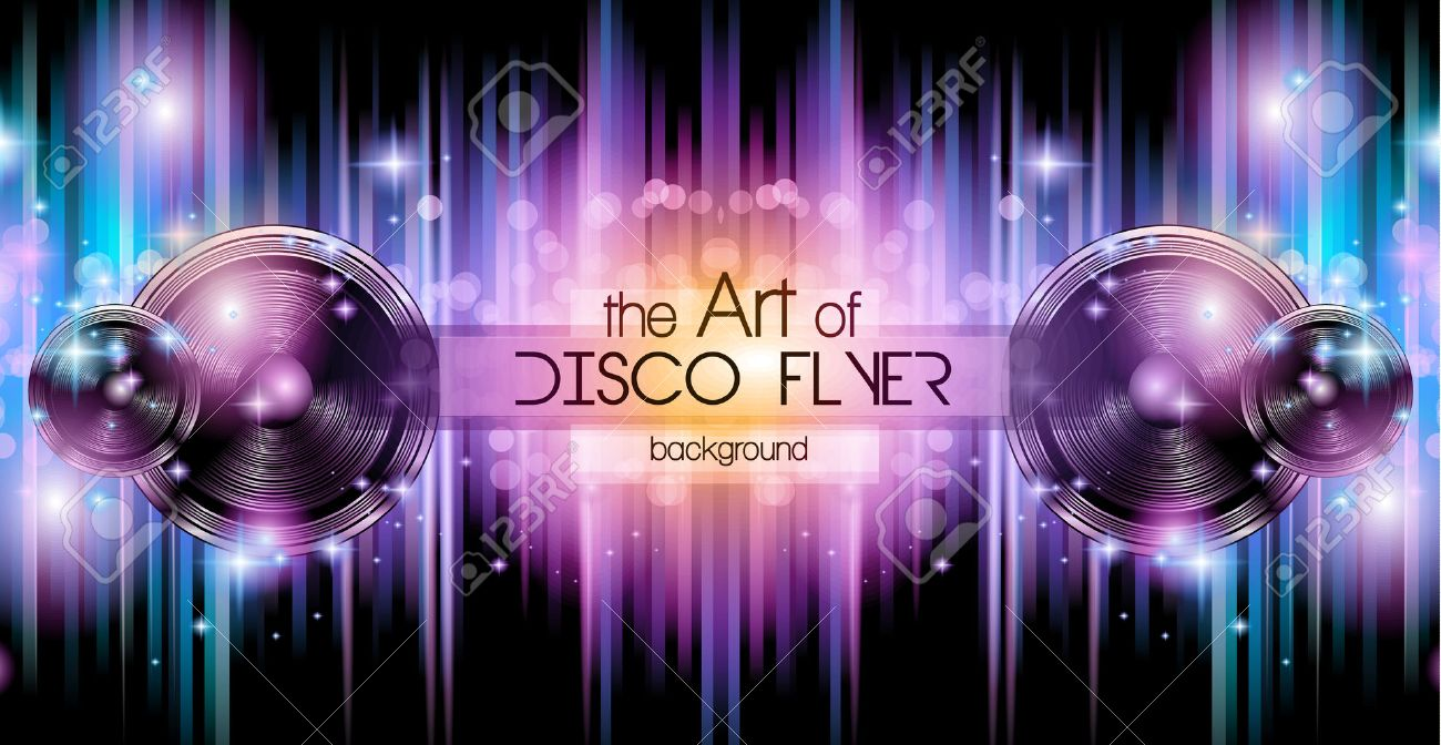 Disco Club Flyer Template For Your Music Nights Event Ideal – Club Flyer Background