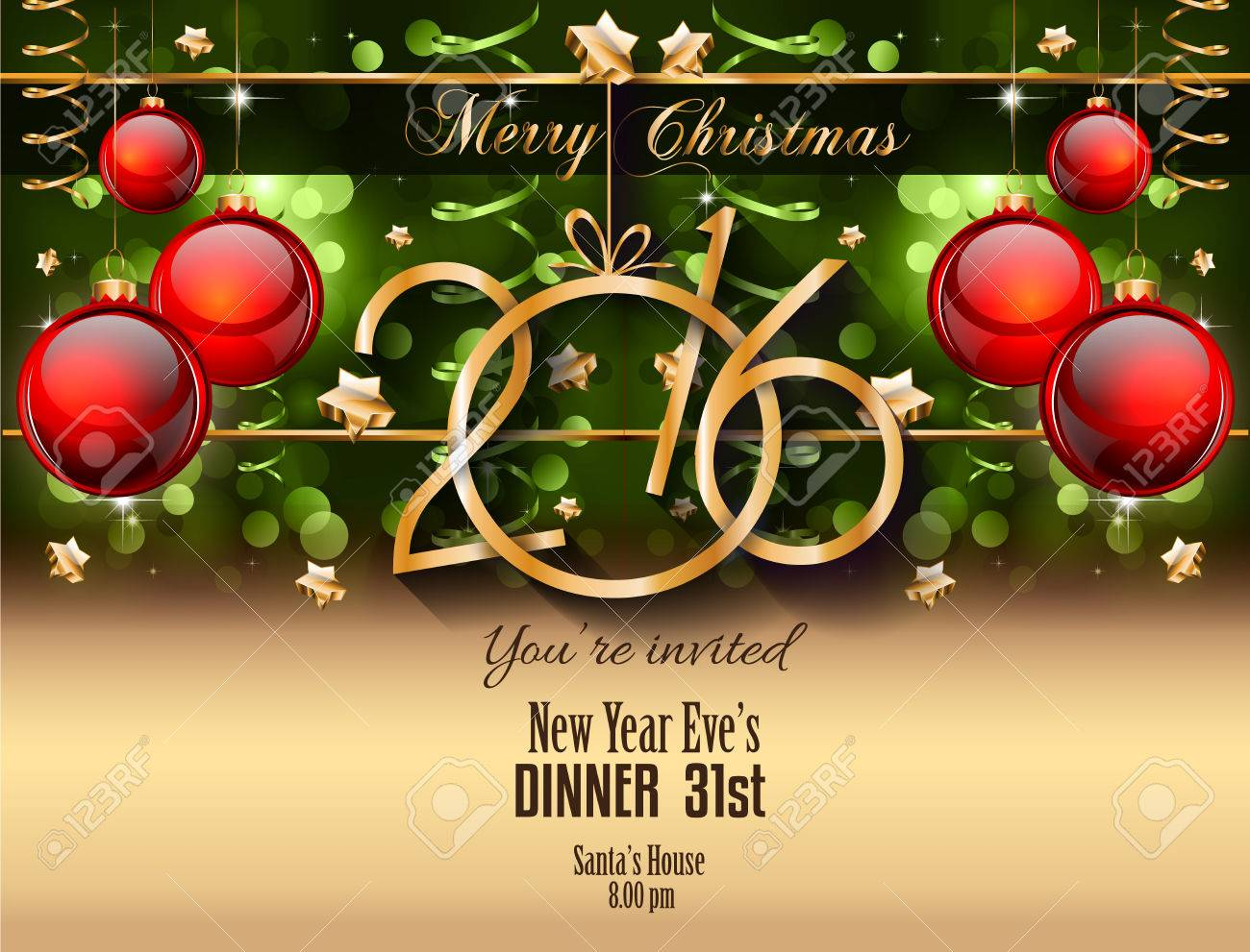 christmas and happy new year party flyer royalty 2016 christmas and happy new year party flyer stock vector 46657448