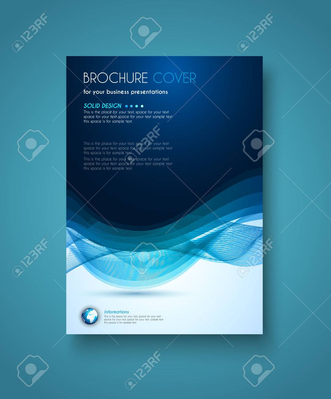 brochure template, flyer design and depliant cover for business, Presentation templates