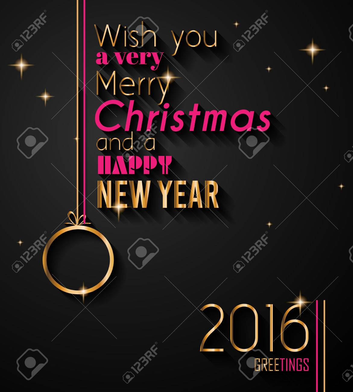 2016 christmas and happy new year party flyer complete layout