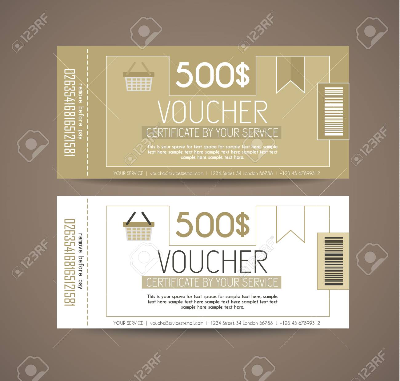 voucher gift card layout template for your promotional design