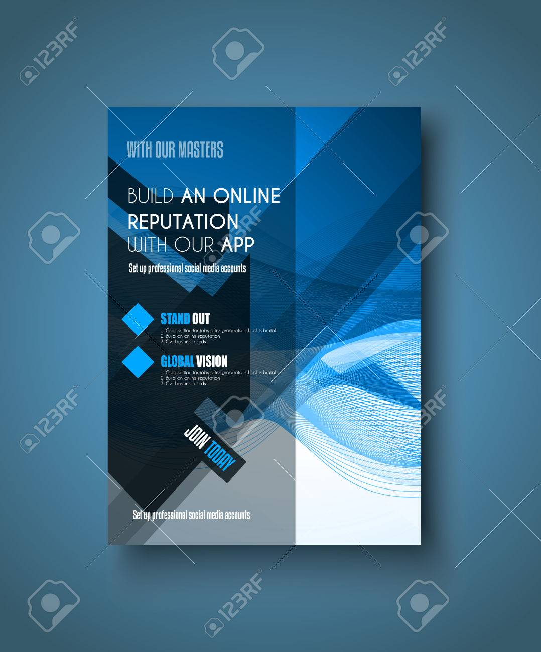 page layout stock vector illustration and royalty page layout brochure template flyer design or depliant cover for business presentation and magazine