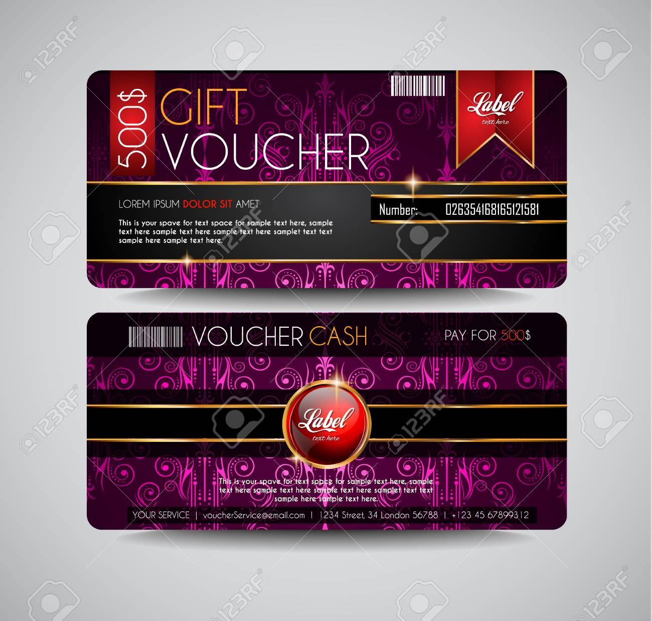 Voucher Gift Card Layout Template For Your Promotional Design ...