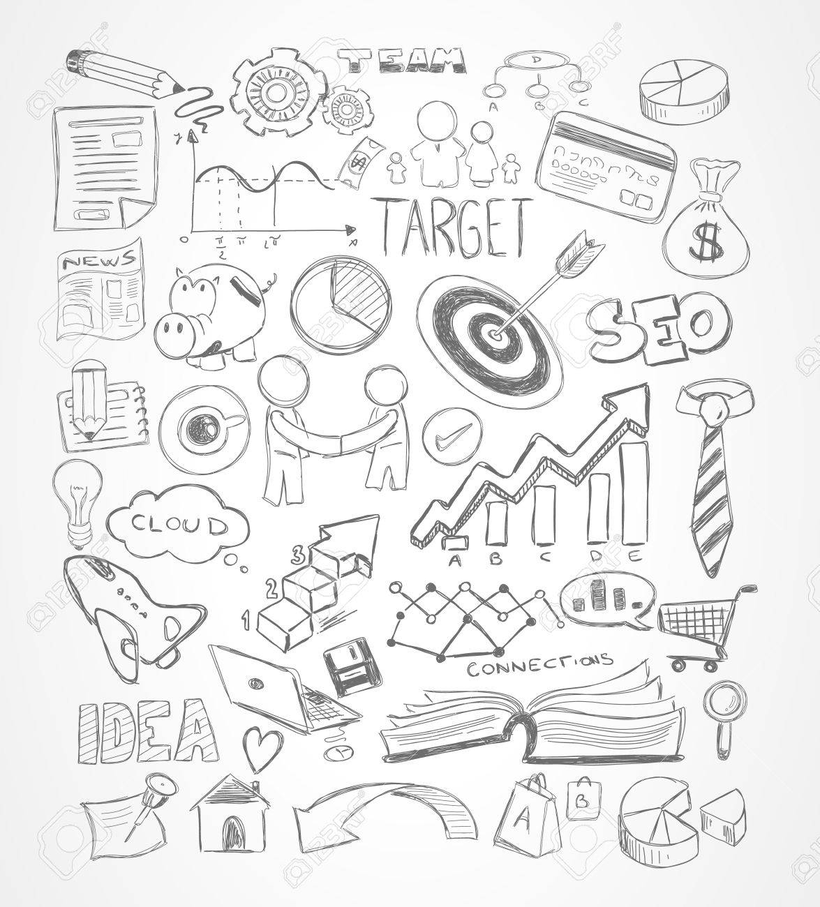 47969228 Modern Abstract background with hand drawn doodle sketches for Flyer Designs Brochure layouts Busine Stock Vector marketing ad templates,ad free download card designs on marketing template powerpoint