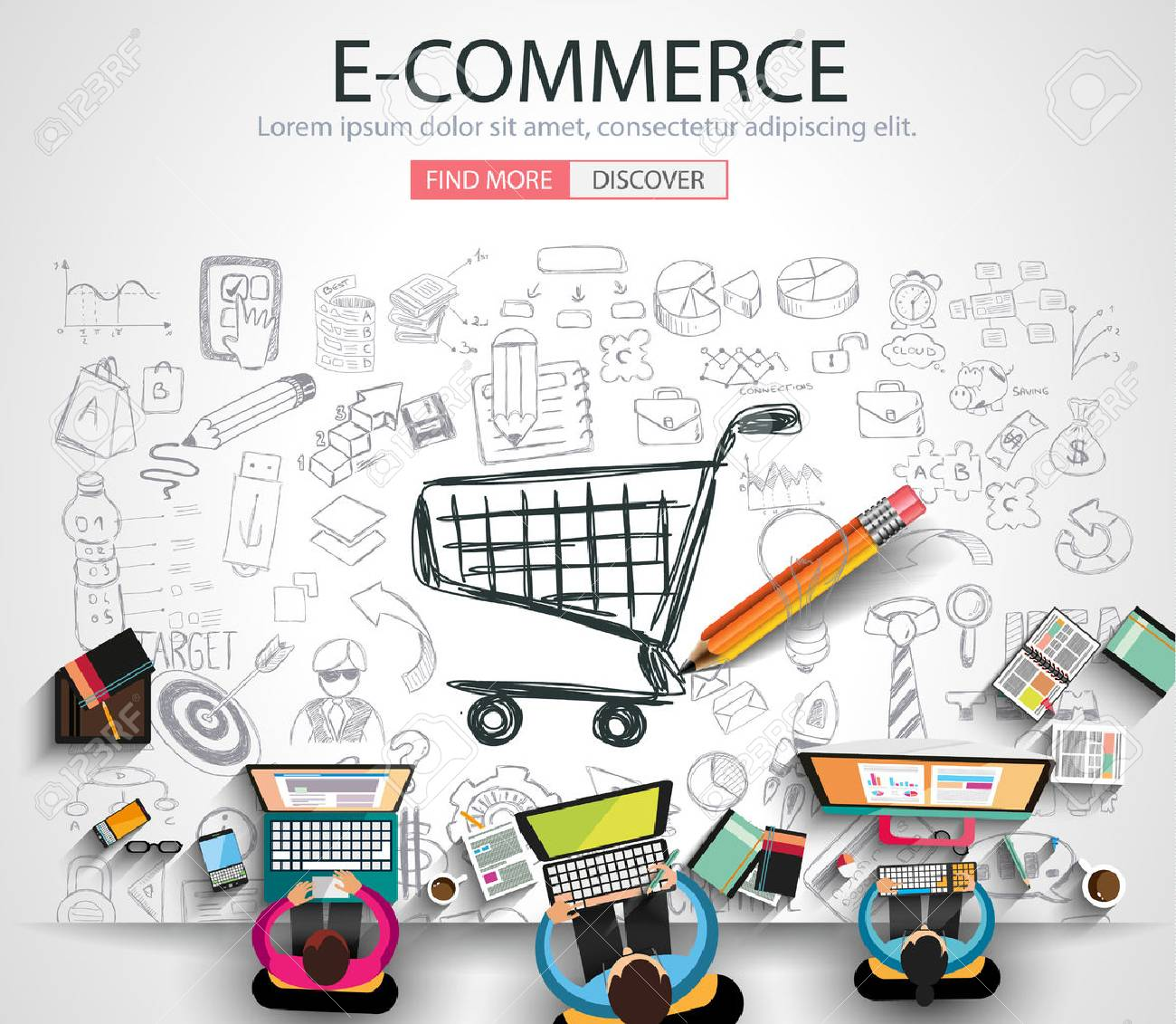Ecommerce Marketing Banners Cloud Technology Banners