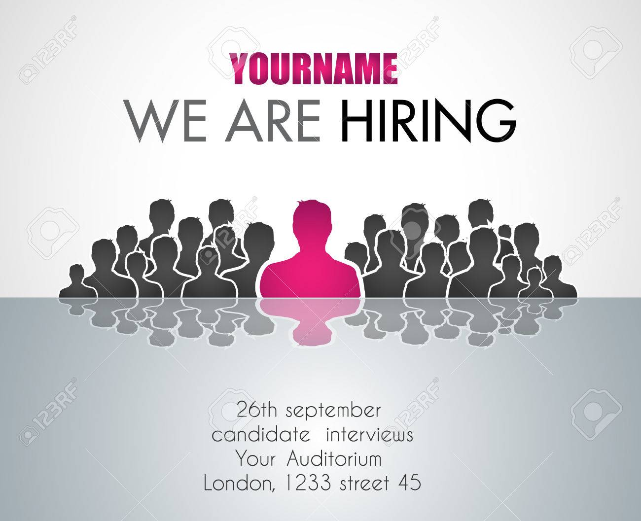 Poster design jobs london - Vector We Are Hiring Background For Your Hiring Posters And Flyer Simple And Clean Design With A Lot Of Human Shapes And Space For Your Job Details