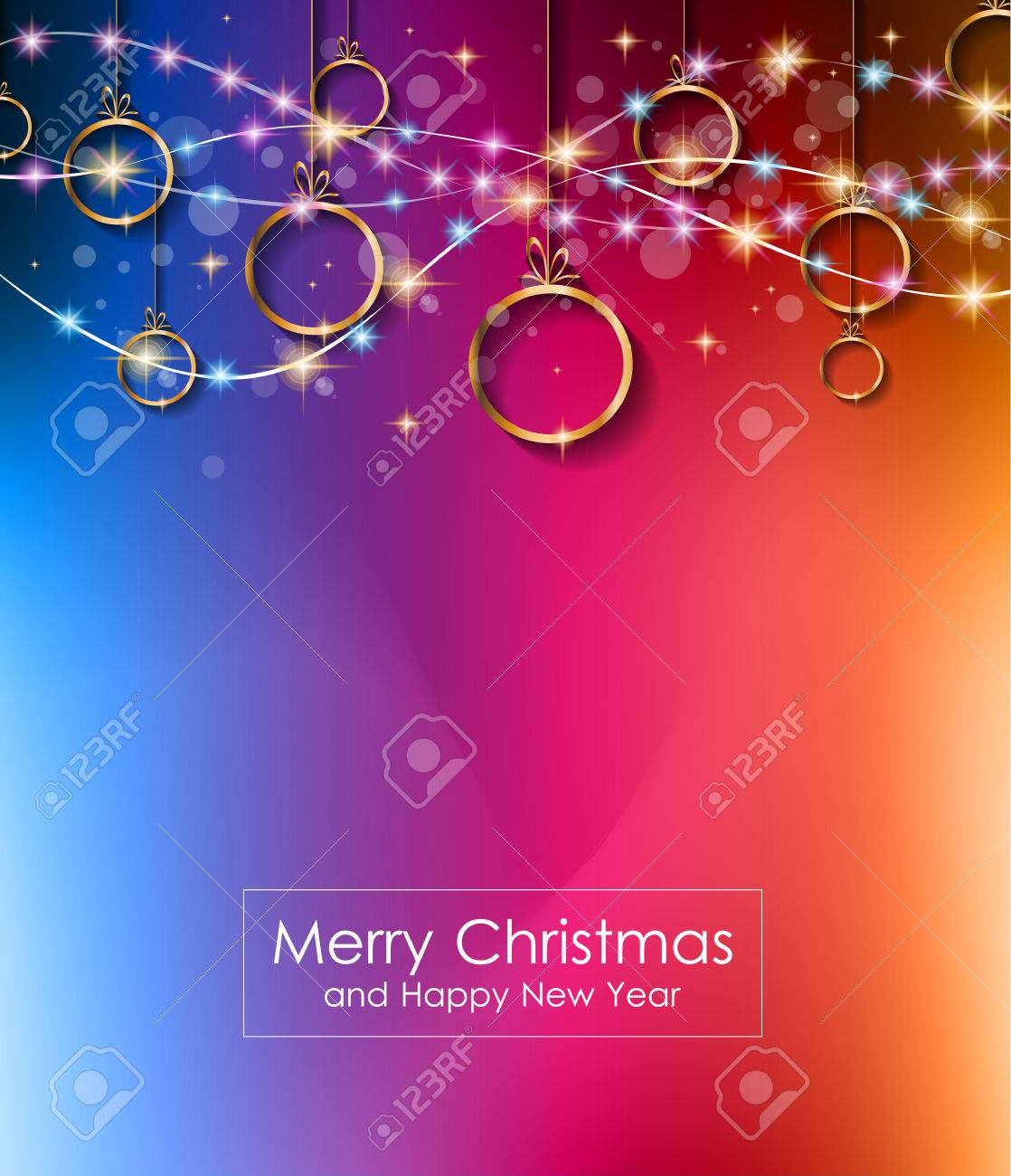 2016 Merry Christmas And Happy New Year Background For Seasonal
