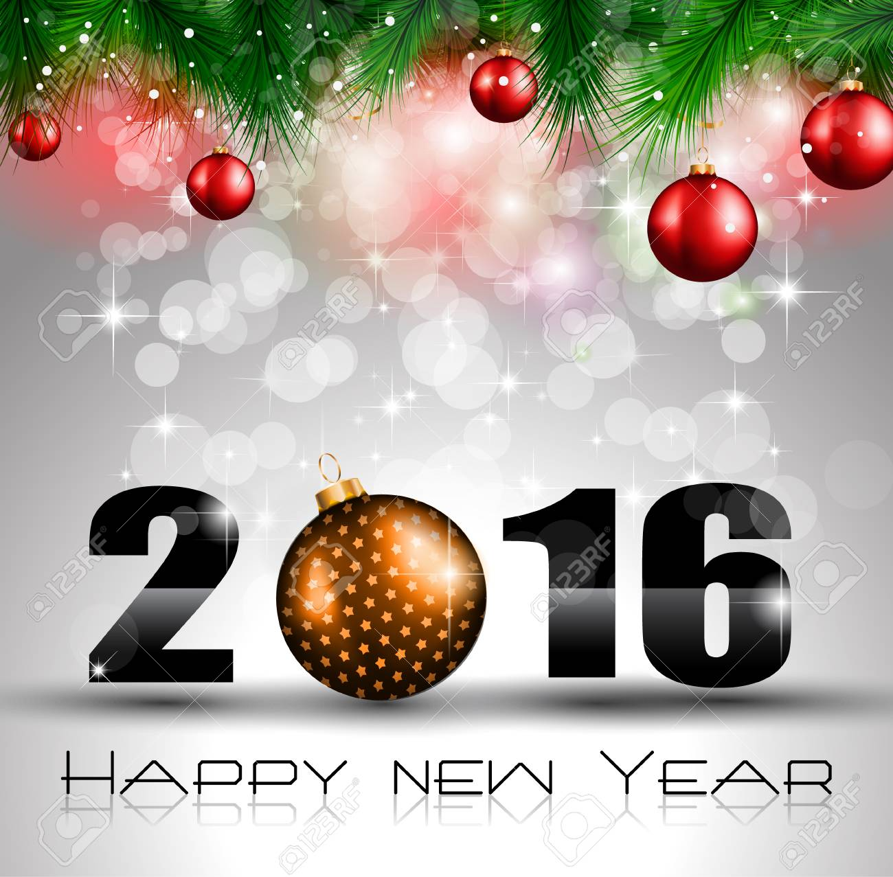 2016 Happy New Year And Merry Christmas Background For Seasonal ...