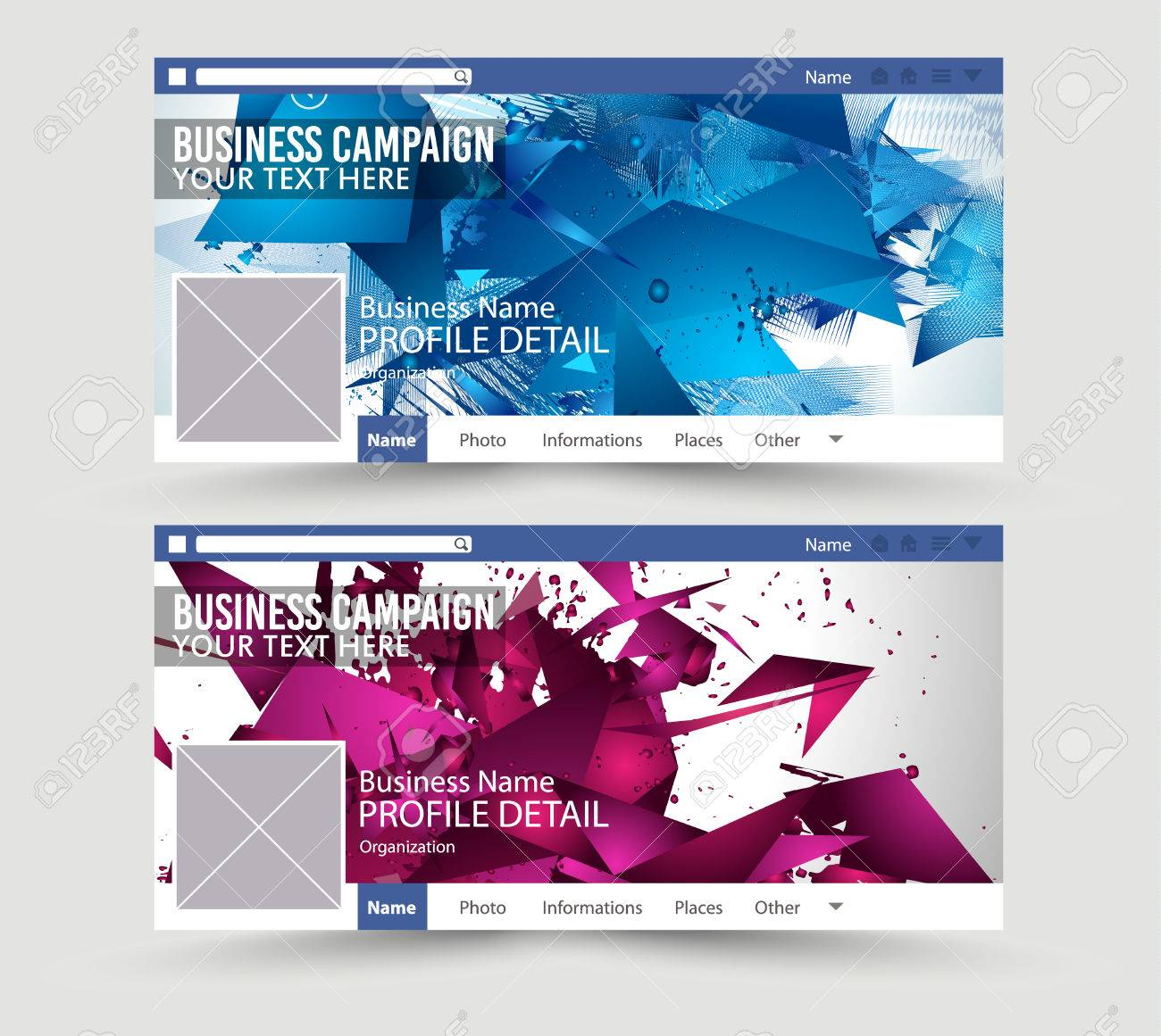 social media web banner website header for page template for