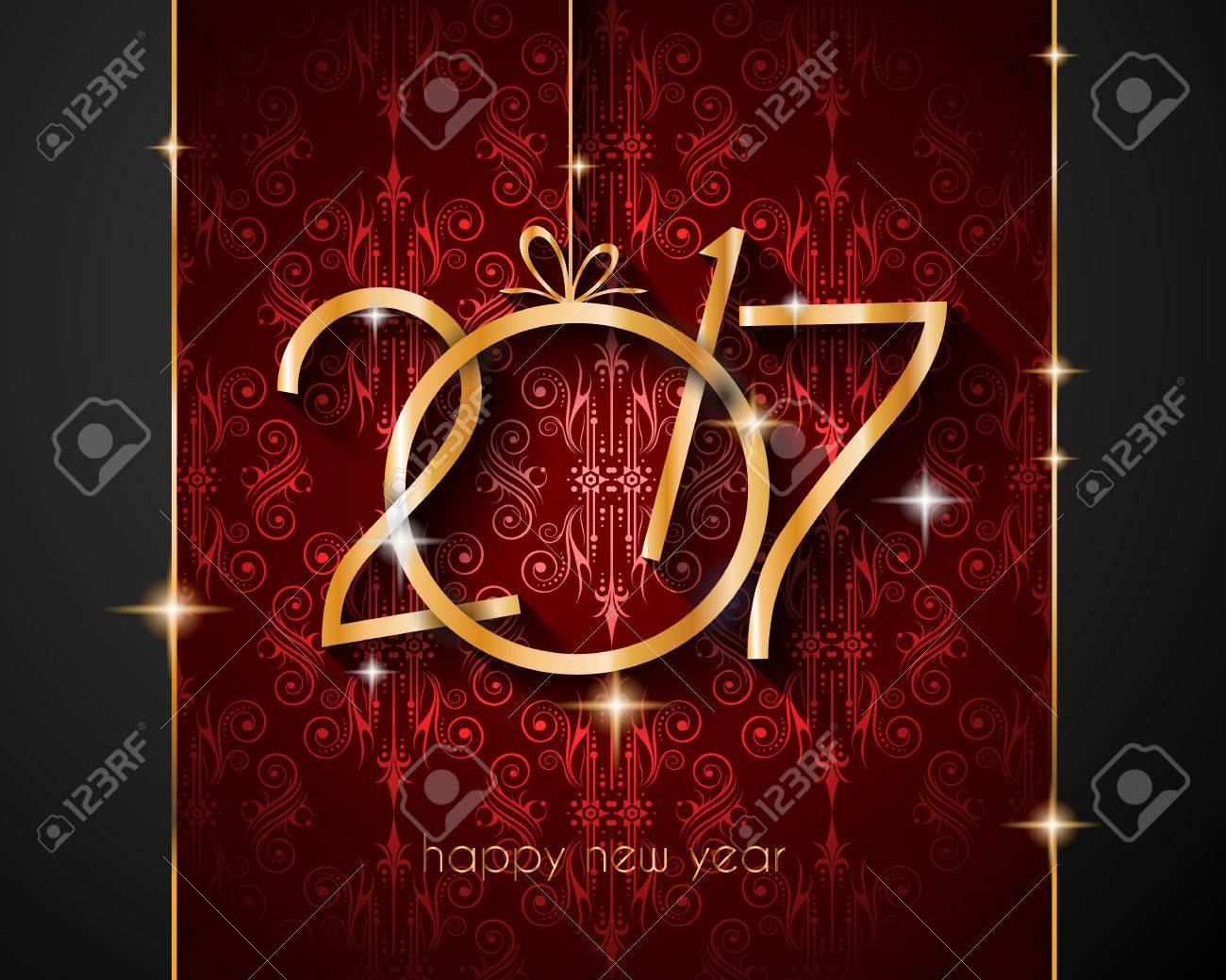 2017 happy new year background for your seasonal flyers and greetings card stock vector