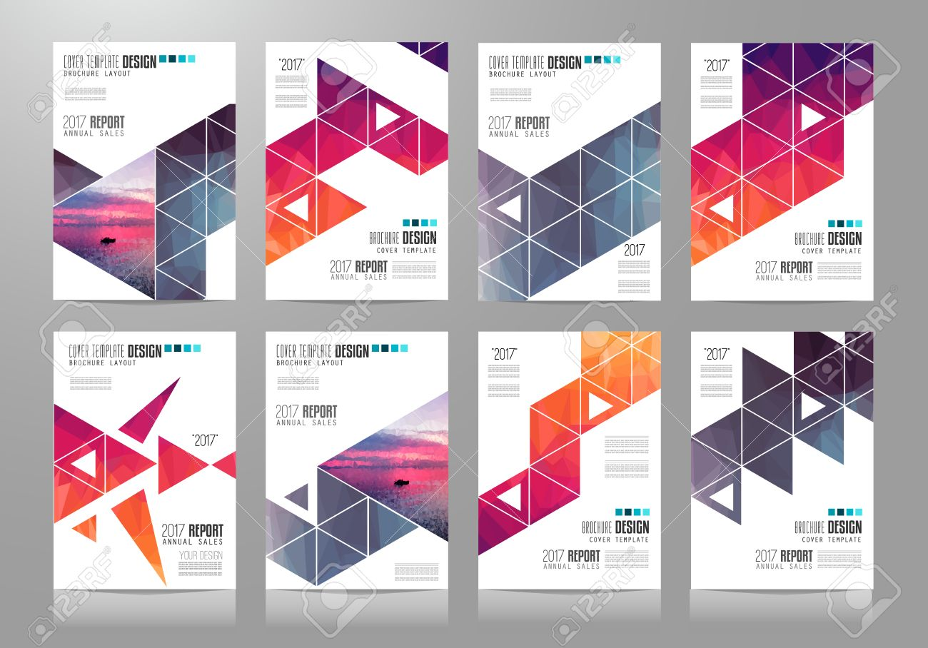 Set Of Brochure Templates Flyer Designs Or Depliant Covers For - Brochure template designs