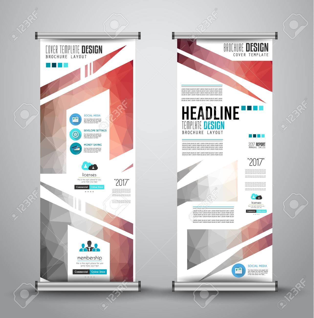 Werbung Rollen Geschäft Oder Broschüre Banner Mit Vertikalen Design