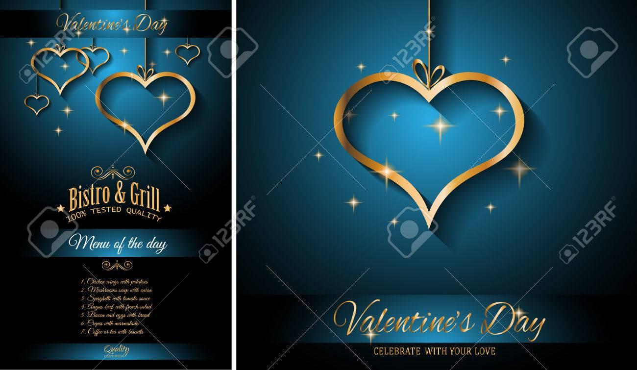 Día Restaurante Fondo De La Plantilla De Menú De San Valentín Para La Cena Romántica De Eventos Fiestas Invitaciones De Eventos De Almuerzo Tarjetas