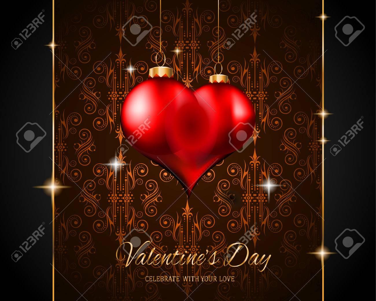 Valentine\'s Day Restaurant Menu Template Background For Romantic ...