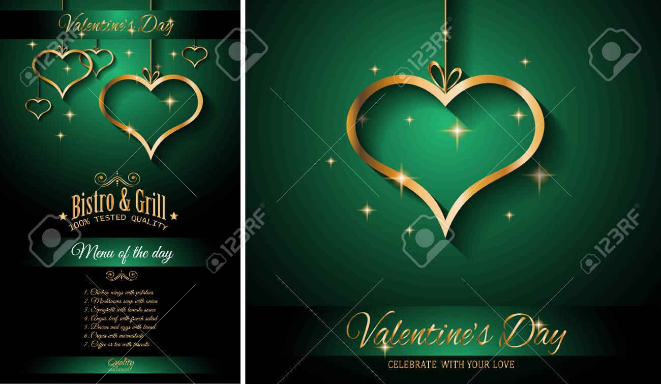 Valentine\'s Day Restaurant Menu Template Background For Romantic ...
