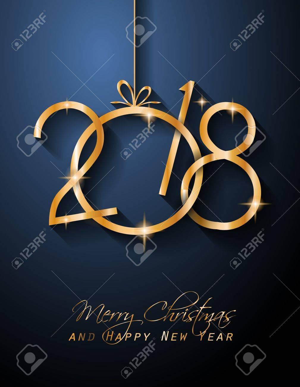2018 Guten Rutsch Ins Neue Jahr-Hintergrund Für Ihre Saisonflieger ...